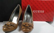 """Guess by Marciano Brown Leather 4"""" High Heels Woman Shoes - size 8 M"""