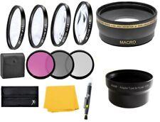 Wide Angle Lens & Macro Close-up Filter Set for Panasonic DMC-FZ20 FZ15 FZ10