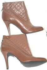 COLIN STUART BROWN LEATHER boots WOMEN'S ANKLE DRESS Booties 10 sexy nice