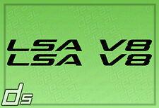 2x LSA V8 Liter Engine Badge Decals for Cowl Hood Letters Fender Door Sticker