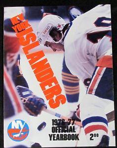 1976-77 NEW YORK ISLANDERS HOCKEY YEARBOOK