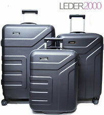 Travelite Reise Vector 2 4 Rollen Trolley Koffer Set o. 55 70 77 S M L Grau Rot