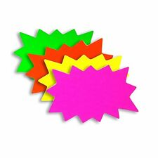 100 Medium Blank Solar Star Burst Neon Fluorescent Retail Sale Signs 25 ea Color