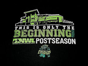 Eugene Emeralds Minor League Baseball 2016 Post Season T Shirt Medium Beginning