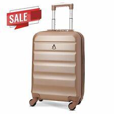 Aerolite 55x35x20cm Cabin Carry On Lightweight Hand Cabin Bag Suitcase Rosegold