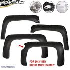 Pocket Rivet Fender Flares Wheel Covers Fit For 07-13 Chevy Silverado 1500 69