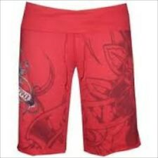 Ed Hardy Womens Terry Gym Drawstring Shorts- Red SZ:S  NEW WITH TAG