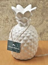 Tommy Bahama Home White Ceramic Pineapple Table Lamp / Night Light NEW