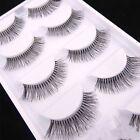 5 Pairs Natural Sparse Cross Eyes Lashes Extension Makeup Long False Eyelashes