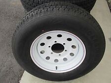 1 New ST 225/75R15 Cargo Max Radial Trailer Tire and Wheel 8 Ply 2257515 75 15