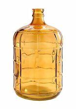 "New 15"" Hand Blown Glass Art Vase Bottle Amber Decorative"