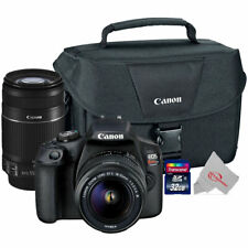 Canon EOS Rebel T7 24.1MP DSLR Camera + 18-55mm + 55-250 IS II Lens Top Kit