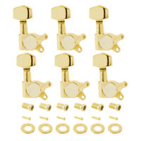 Guitar Tuning Pegs Key Head Tuner Machine Gold 6R for Electric & Acoustic Guitar