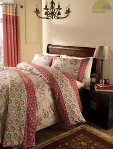 Catherine Lansfield Duvet Quilt Cover Bed Set OR Curtains OR Throw 200 Cotton TC