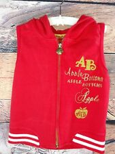 Apple Bottoms Girl's Sz 6X Apple Bottom Vest Red Gold Stitching