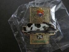 NEW 2002 Salt Lake City Winter Olympics Gatway Computers Cow Spotted Bobsled Pin