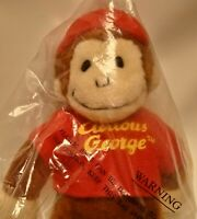 Curious George Adventures Keychain Backpack Purse Clip On Plush 5 Inch Sealed