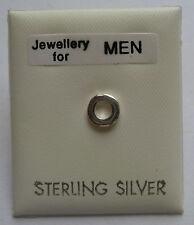 argento sterling da uomo Singolo Forma cerchio borchia orecchino