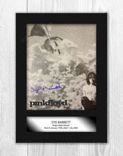 Syd Barrett Pink Floyd 2 A4 reproduction autograph poster with choice of frame