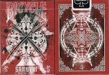 Samurai V3 Red Bicycle Playing Cards Poker Size Deck USPCC Custom Limited Sealed