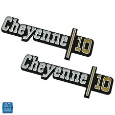 1973-1974 GM Chevy Cheyenne 101/2 Ton Truck Front Fender Emblem GM 328854 PR