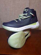 7b8b8a8c4fb Under Armour Curry 3zero Gray Purple White w  Green Glow In The Dark