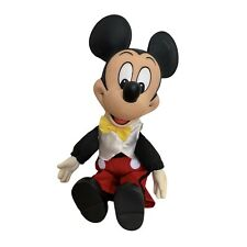 New listing Vtg Disney Mickey Mouse Doll Toy Hard Plastic Soft Body Collect Disneyana - Read