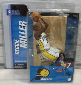 NBA Sports Picks Series 7 Reggie Miller Action Figure [White Jersey]