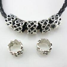 14pcs Tibetan Silver Tube Spacer Beads7x10mm  fit European Charm Bracelet