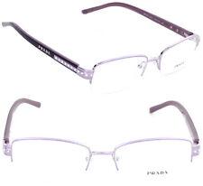 Prada VPR 57MV ZV0-1O1 52mm Rectangle Eyeglasses Violet / Demo Lens