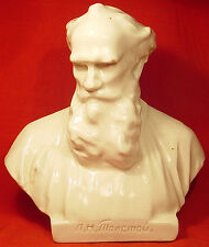 Writer Leo Tolstoy Porcelain LFZ Russian Bust Sculpture Statue Figurine 1950's