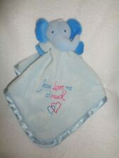 Elephant Jesus Loves Me So Much blue plus baby Security Blanket Family Christian