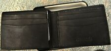 NEW IN BOX~GUESS BY MARCIANO GENUINE LEATHER MATTE BLACK PASSCASE/VALET WALLET~