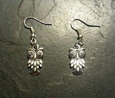Owl Vintage Style Retro Earrings Set Charm Pendant Gift Present