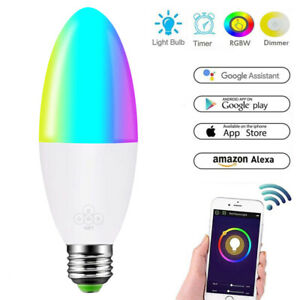 Smart LED Bulb WIFI Remote Control Compatible w/ Alexa Google Home Voice Control