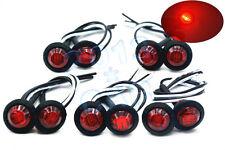 """10x 3/4"""" LED Marker Lights LED Truck Trailer Clearance Indicator Lights Red 12V"""
