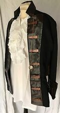Steampunk Vintage Style  Men's Pirate Jacket brown leatherette collar  L