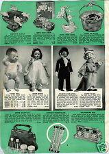 1939 PAPER AD Charlie McCarthy Snow White Seven Dwarfs Dopey Ventriloquist Dolls
