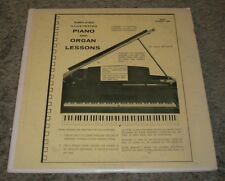 Simplified Illustrated Piano And Organ Lessons Book Number One~RARE 16 RPM 2 LPs