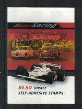 Australia 2002 Race Cars sa booklet-Attractive Sports Topical (2046b) Mnh