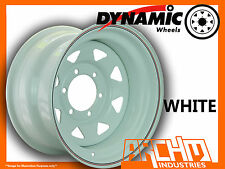 ONE WHITE 4X4 DYNAMIC SUNRAYSIA WHEELS WHEELS 15X8 6/139.7 4WD RIM PATROL HILUX