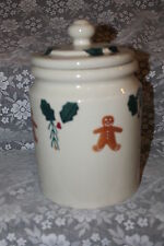 HARTSTONE POTTERY STONEWARE LG 5 LB CANISTER COOKIE JAR CHRISTMAS GINGERBREAD
