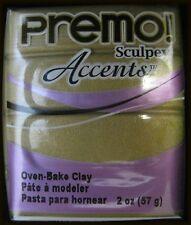 Polyform 465028 Premo Sculpey Polymer Clay 2 Ounces Antique Gold