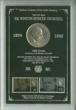 More details for sir winston churchill vintage crown & stamp retro coin collector gift set 1965