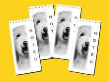 Bearded Collie Slim Dog Note Pads or Jotter Pads pack of 4, Gift Set