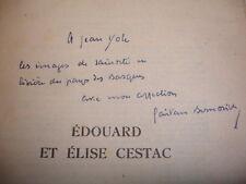 EDOUARD et ELISE CESTAC ou l'Emulation Mystique  Gaétan Bernoville  envoi