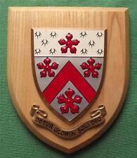 Vintage Dulwich College Grammar School University  Crest Shield Plaque