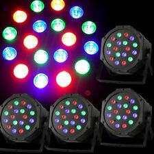 4X 18 LED Par Bühnenbeleuchtung Licht Strahler DJ 6-Kanal DMX 512 Floorspot DHL