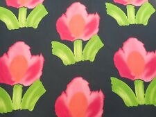 Designers Guild Fabric 'LARGE FLOWER' 1.1 METRES Crimson - Howard Hodgkin Design