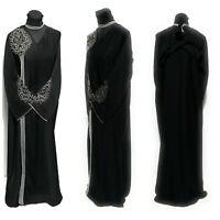 Femme Fermé devant Abaya,Robe Maxi Saoudien Long Abaya Farasha Jilbab Burka